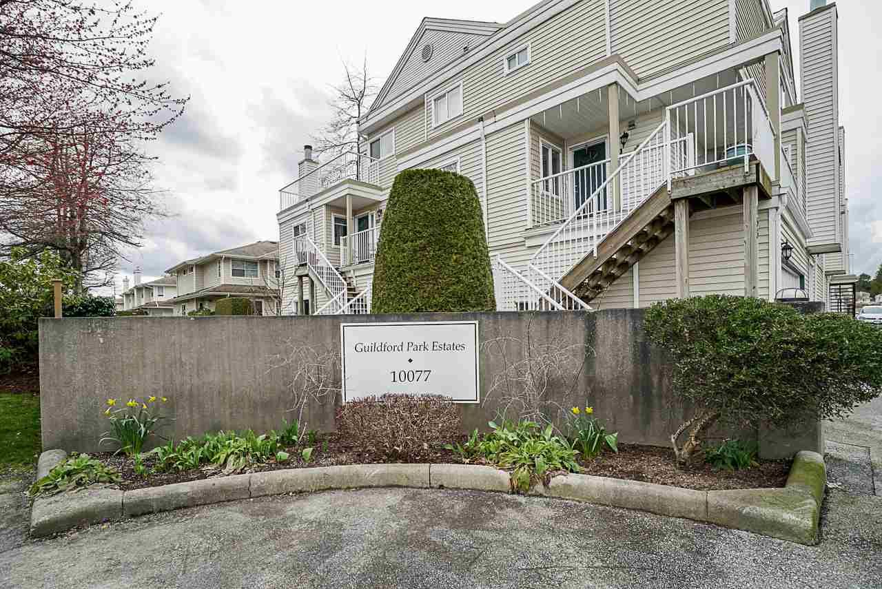 """Main Photo: 155 10077 156 Street in Surrey: Guildford Townhouse for sale in """"Guildford Park Estate"""" (North Surrey)  : MLS®# R2447053"""