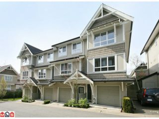 """Photo 1: 122 6747 203RD Street in Langley: Willoughby Heights Townhouse for sale in """"SAGEBROOK"""" : MLS®# F1008296"""