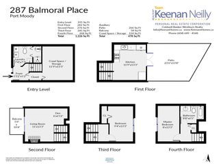 Photo 15: 287 BALMORAL PLACE in Port Moody: North Shore Pt Moody Townhouse for sale : MLS®# R2378595