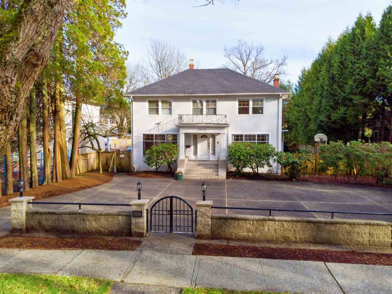 Main Photo: 5838 CHURCHILL Street in Vancouver: South Granville House for sale (Vancouver West)  : MLS®# R2543960