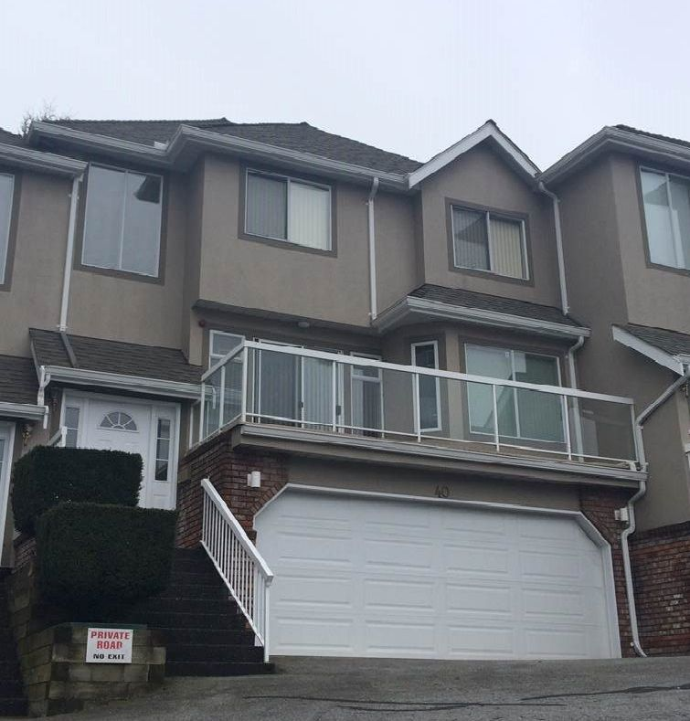 Main Photo: 40 72 Jamieson Street in New Westminster: Fraserview NW Townhouse for sale