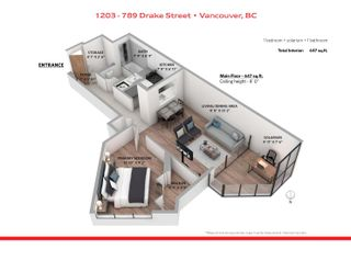 """Photo 14: 1203 789 DRAKE Street in Vancouver: Downtown VW Condo for sale in """"CENTURY TOWER"""" (Vancouver West)  : MLS®# R2625443"""