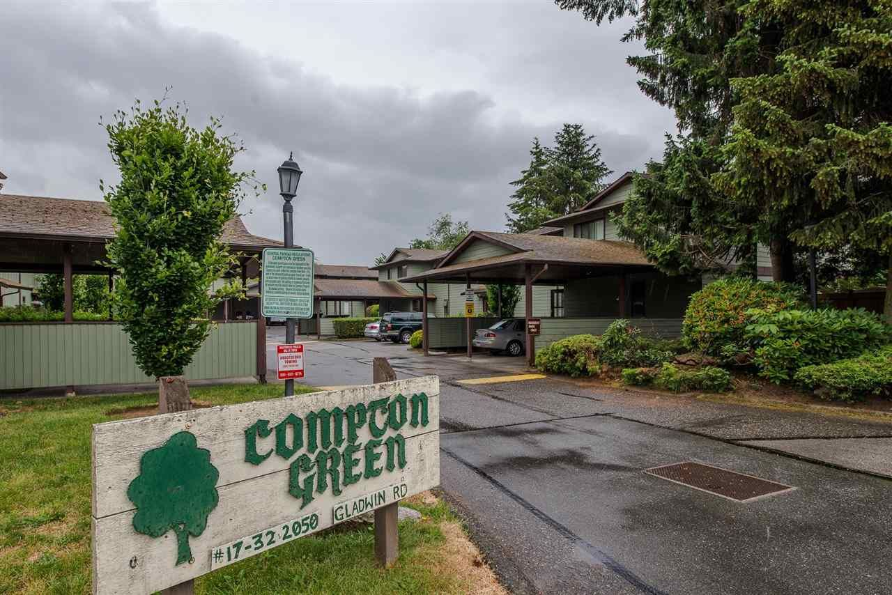 """Main Photo: 31 2050 GLADWIN Road in Abbotsford: Central Abbotsford Townhouse for sale in """"Compton Green"""" : MLS®# R2277493"""