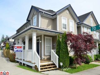 """Photo 1: 6976 179A Street in Surrey: Cloverdale BC Townhouse for sale in """"TERRACES AT PROVINCETON"""" (Cloverdale)  : MLS®# F1220224"""