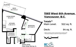 """Photo 13: 502 1565 W 6TH Avenue in Vancouver: False Creek Condo for sale in """"6TH & FIR"""" (Vancouver West)  : MLS®# R2157219"""