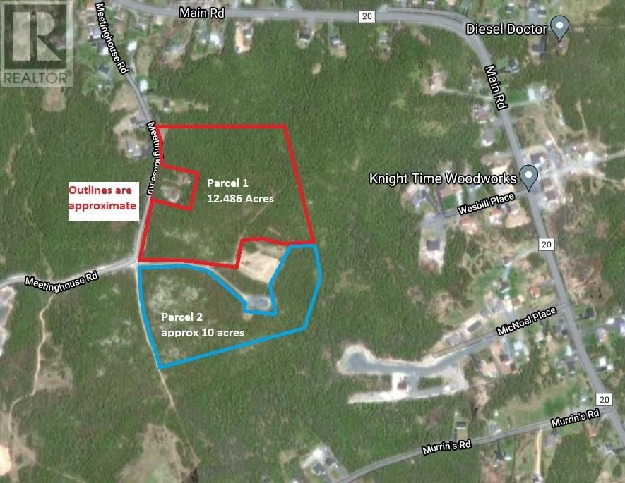 Main Photo: Parcel 1 Meetinghouse Road in Pouch Cove: Vacant Land for sale : MLS®# 1229618