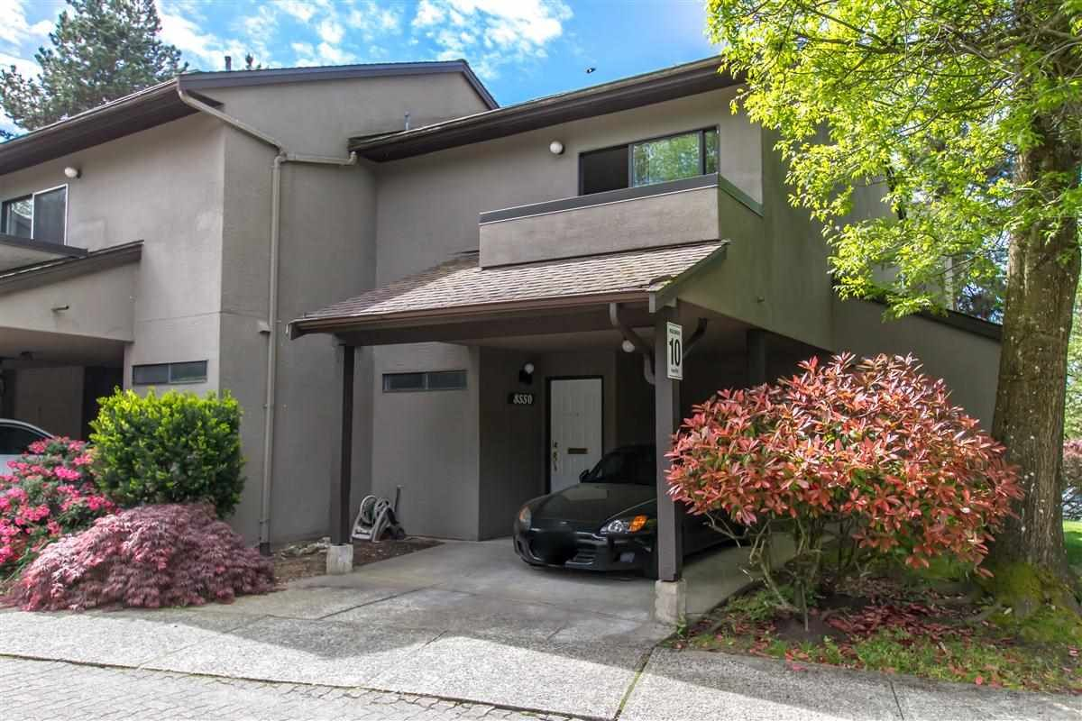 """Main Photo: 8550 WOODRIDGE Place in Burnaby: Forest Hills BN Townhouse for sale in """"Simon Fraser Village"""" (Burnaby North)  : MLS®# R2456705"""