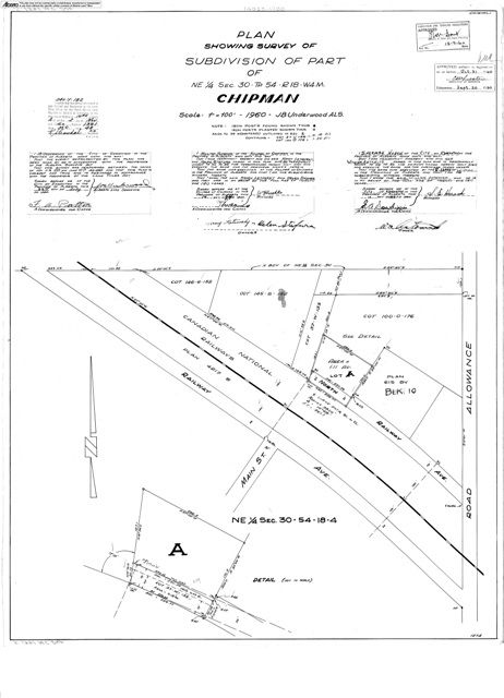 Photo 2: Photos: 5004 52 Avenue: Chipman Vacant Lot for sale : MLS®# E4216953