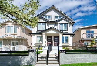 Photo 1: 4308 BEATRICE Street in Vancouver: Victoria VE 1/2 Duplex for sale (Vancouver East)  : MLS®# R2510193