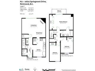 Photo 15: 21 10820 SPRINGMONT Drive in Richmond: Steveston North Townhouse for sale : MLS®# R2292079