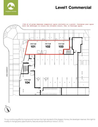 """Photo 3: 101 1360 VICTORIA Street in Squamish: Downtown SQ Retail for sale in """"AEGEAN"""" : MLS®# C8038575"""