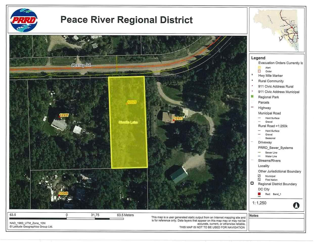 "Main Photo: 12925 CHERRY Road: Charlie Lake Land for sale in ""CHARLIE LAKE"" (Fort St. John (Zone 60))  : MLS®# R2519694"