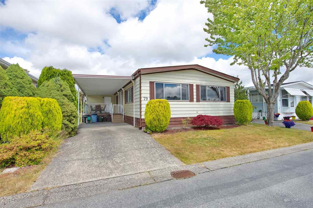 Main Photo: 79 2303 CRANLEY DRIVE in Surrey: King George Corridor Manufactured Home for sale (South Surrey White Rock)  : MLS®# R2384699