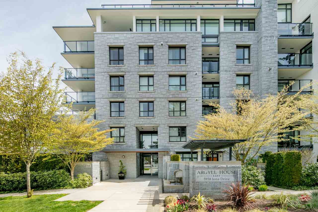 """Main Photo: 404 5958 IONA Drive in Vancouver: University VW Condo for sale in """"ARGYLL HOUSE EAST"""" (Vancouver West)  : MLS®# R2363675"""