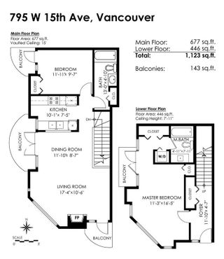 Photo 14: 795 W 15TH Avenue in Vancouver: Fairview VW Townhouse for sale (Vancouver West)  : MLS®# R2302341