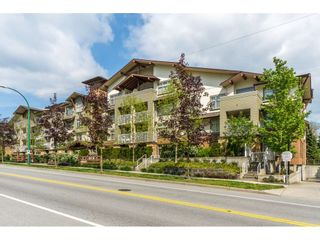 """Photo 1: 107 6500 194 Street in Surrey: Clayton Condo for sale in """"SUNSET GROVE"""" (Cloverdale)  : MLS®# R2356040"""