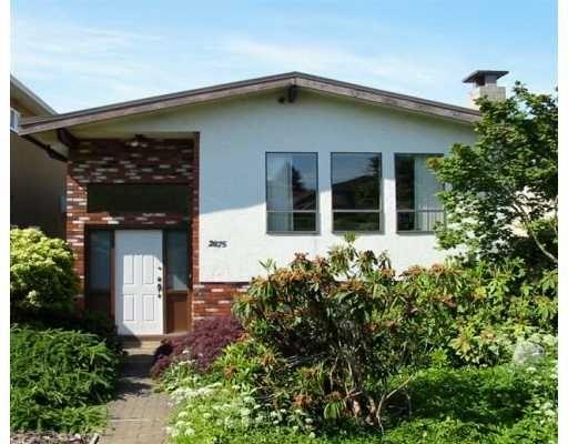 Main Photo: 2875 E 23RD AV in Vancouver: Renfrew Heights House for sale (Vancouver East)  : MLS®# V595556