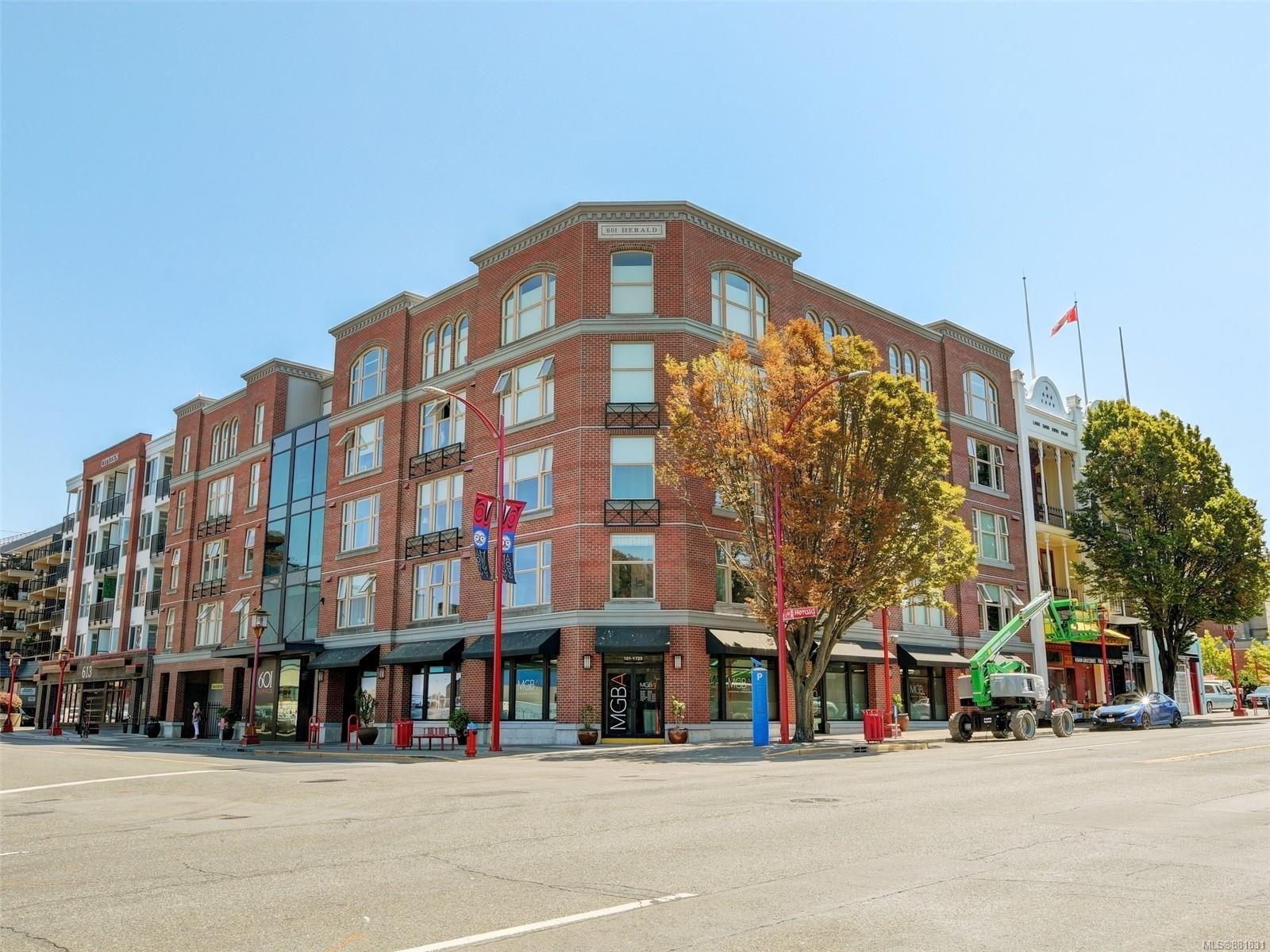 Main Photo: 209 601 Herald St in : Vi Downtown Condo for sale (Victoria)  : MLS®# 881831