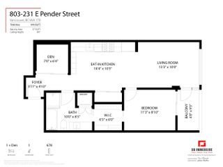 """Photo 20: 803 231 E PENDER Street in Vancouver: Strathcona Condo for sale in """"Framework"""" (Vancouver East)  : MLS®# R2618917"""