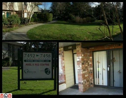 "Main Photo: 108 7426 138TH Street in Surrey: East Newton Condo for sale in ""GLENCOE ESTATES"" : MLS®# F1003340"