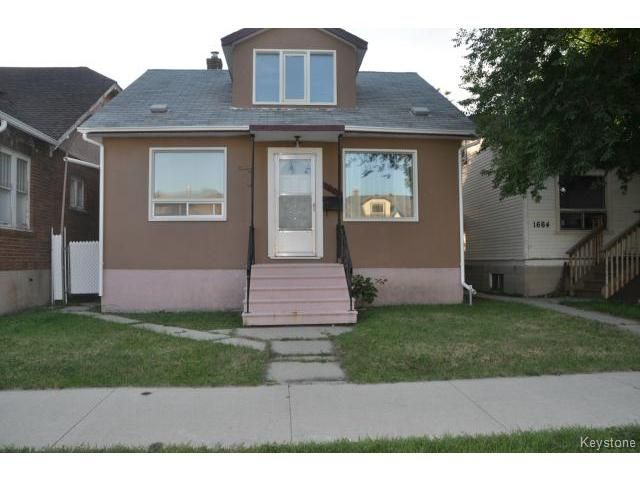 Main Photo: 1660 Arlington Street in WINNIPEG: North End Residential for sale (North West Winnipeg)  : MLS®# 1318907