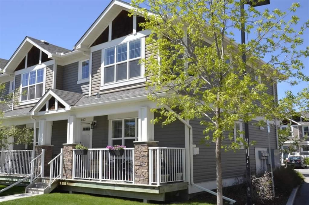 Main Photo: 203 Cranberry Park SE in Calgary: Cranston Row/Townhouse for sale : MLS®# A1111572