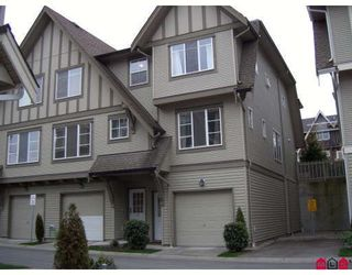 "Photo 1: 64 15175 62A Avenue in Surrey: Sullivan Station Townhouse for sale in ""BROOKLANDS"" : MLS®# F2812395"