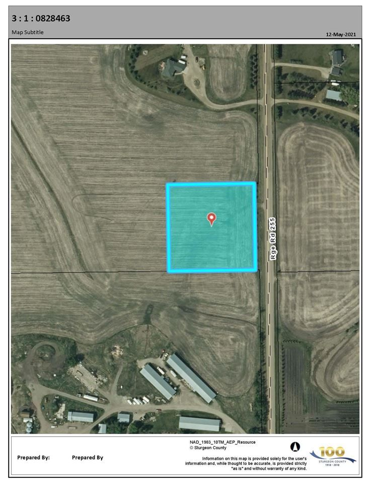 Main Photo: RR 255 & HWY 37: Rural Sturgeon County Rural Land/Vacant Lot for sale : MLS®# E4244134