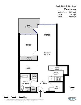 """Photo 20: 206 251 E 7TH Avenue in Vancouver: Mount Pleasant VE Condo for sale in """"District"""" (Vancouver East)  : MLS®# R2443940"""