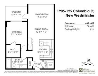"Photo 17: 1905 125 COLUMBIA Street in New Westminster: Downtown NW Condo for sale in ""NORTHBANK"" : MLS®# R2255130"
