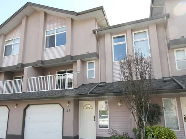 Main Photo: 21 2538 PITT RIVER Road in Port Coquitlam: Mary Hill Townhouse for sale : MLS®# V997236