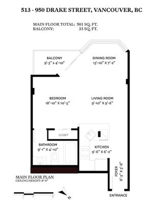 """Photo 15: 513 950 DRAKE Street in Vancouver: Downtown VW Condo for sale in """"ANCHOR POINT"""" (Vancouver West)  : MLS®# R2557103"""