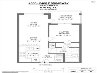 """Photo 15: 303 2408 E BROADWAY in Vancouver: Renfrew VE Condo for sale in """"BROADWAY CROSSING"""" (Vancouver East)  : MLS®# R2463724"""