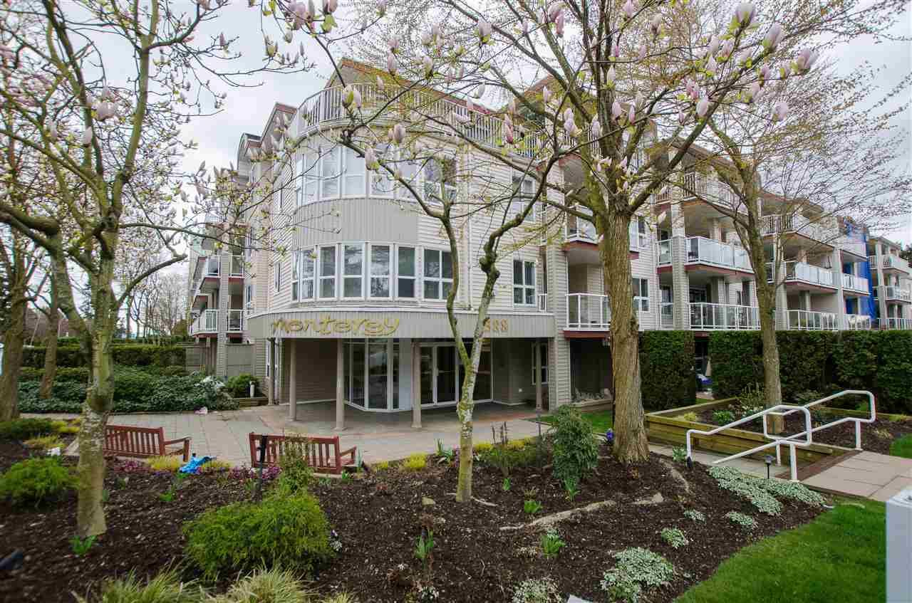 "Main Photo: 323 1588 BEST Street: White Rock Condo for sale in ""Monterey"" (South Surrey White Rock)  : MLS®# R2256976"