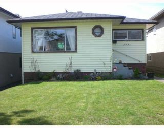 Photo 1: 7931 ONTARIO Street in Vancouver: Marpole House for sale (Vancouver West)  : MLS®# V764597