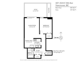 Photo 14: 107 1515 E 5TH Avenue in Vancouver: Grandview Woodland Condo for sale (Vancouver East)  : MLS®# R2423032