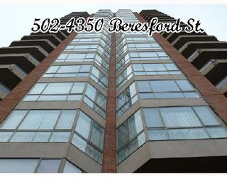 "Photo 1: 502 4350 BERESFORD Street in Burnaby: Metrotown Condo for sale in ""CARLTON ON THE PARK"" (Burnaby South)  : MLS®# V655740"