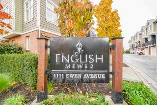 "Photo 1: 27 1111 EWEN AVENUE Avenue in New Westminster: Queensborough Townhouse for sale in ""ENGLISH MEWS"" : MLS®# R2517204"