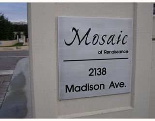 """Photo 2: 604 2138 MADISON Avenue in Burnaby: Central BN Condo for sale in """"MOSAIC/RENAISSANCE"""" (Burnaby North)  : MLS®# V682737"""