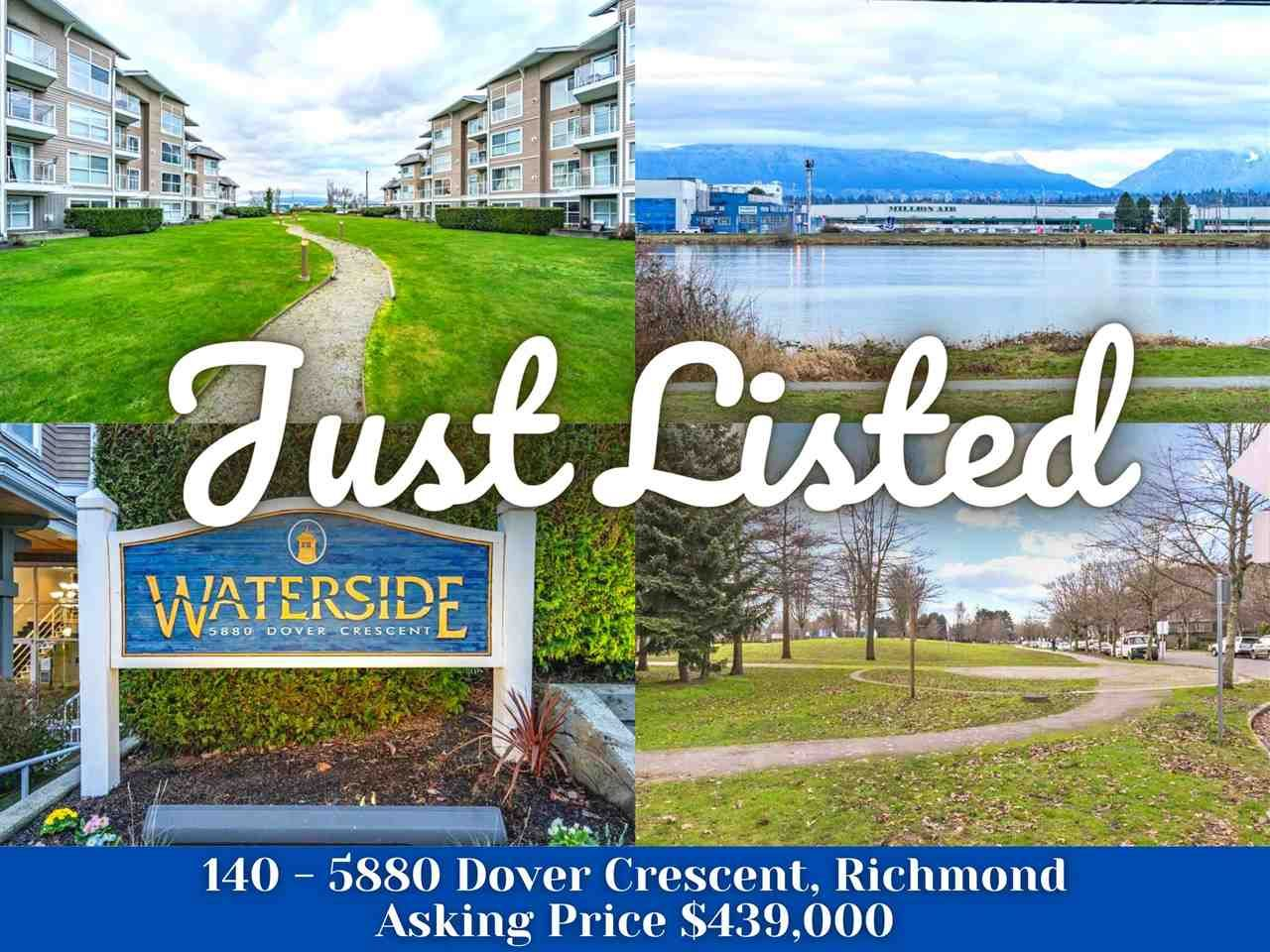 "Main Photo: 140 5880 DOVER Crescent in Richmond: Riverdale RI Condo for sale in ""WATERSIDE"" : MLS®# R2575673"