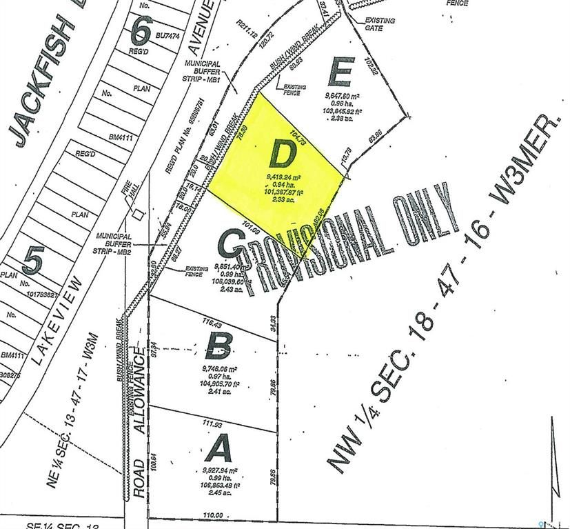 Main Photo: Parcel D-Days Beach Acres-Behind Days Beach in Jackfish Lake: Lot/Land for sale : MLS®# SK859683