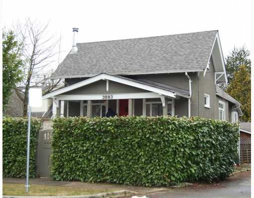 """Main Photo: 3563 HEATHER Street in Vancouver: Cambie House for sale in """"DOUGLAS PARK"""" (Vancouver West)  : MLS®# V753174"""