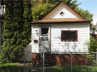 Photo 1: 394 Powers Street in WINNIPEG: North End Residential for sale (North West Winnipeg)  : MLS®# 1528147