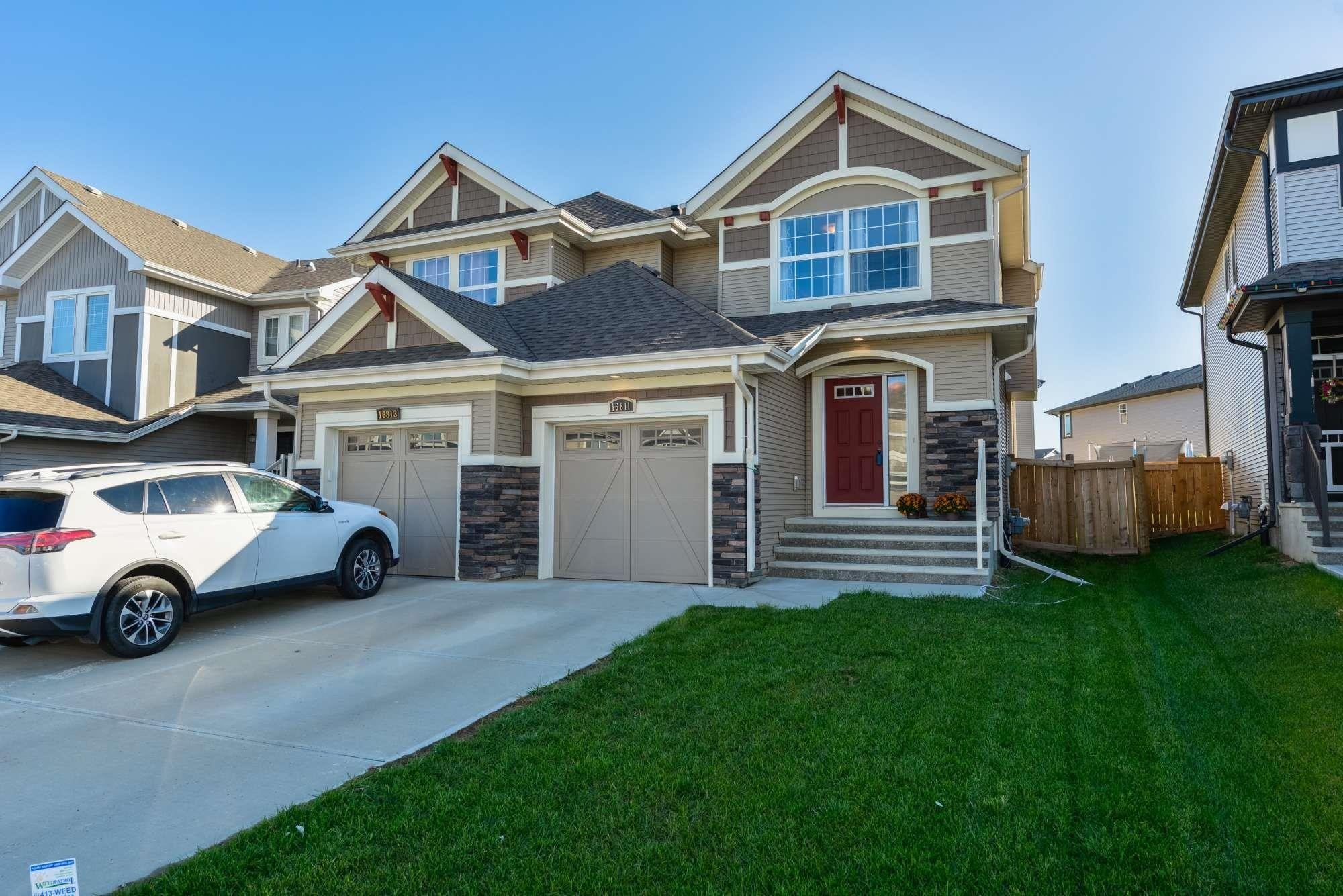 Main Photo: 16811 64 Street in Edmonton: Zone 03 House Half Duplex for sale : MLS®# E4264177