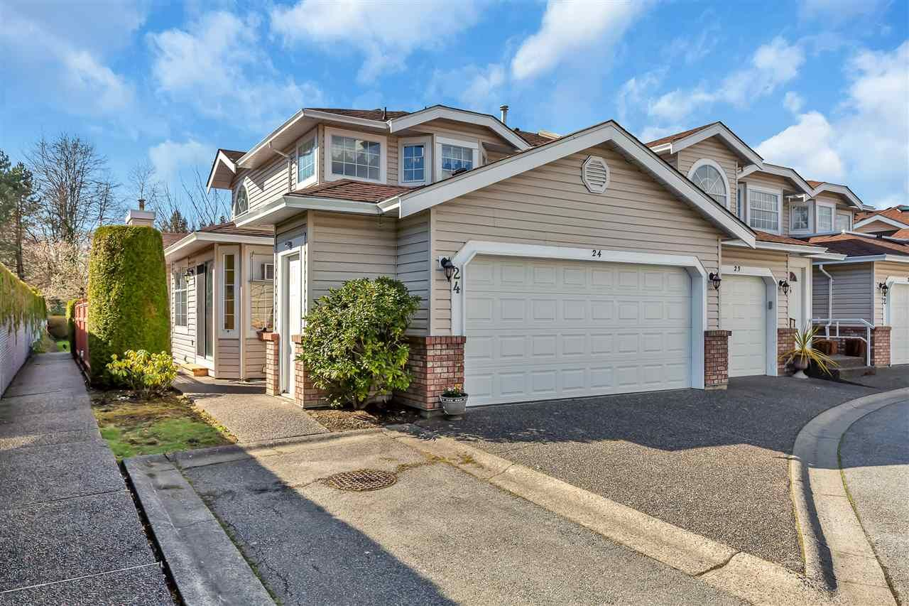 "Main Photo: 24 9163 FLEETWOOD Way in Surrey: Fleetwood Tynehead Townhouse for sale in ""THE FOUNTAINS"" : MLS®# R2555369"