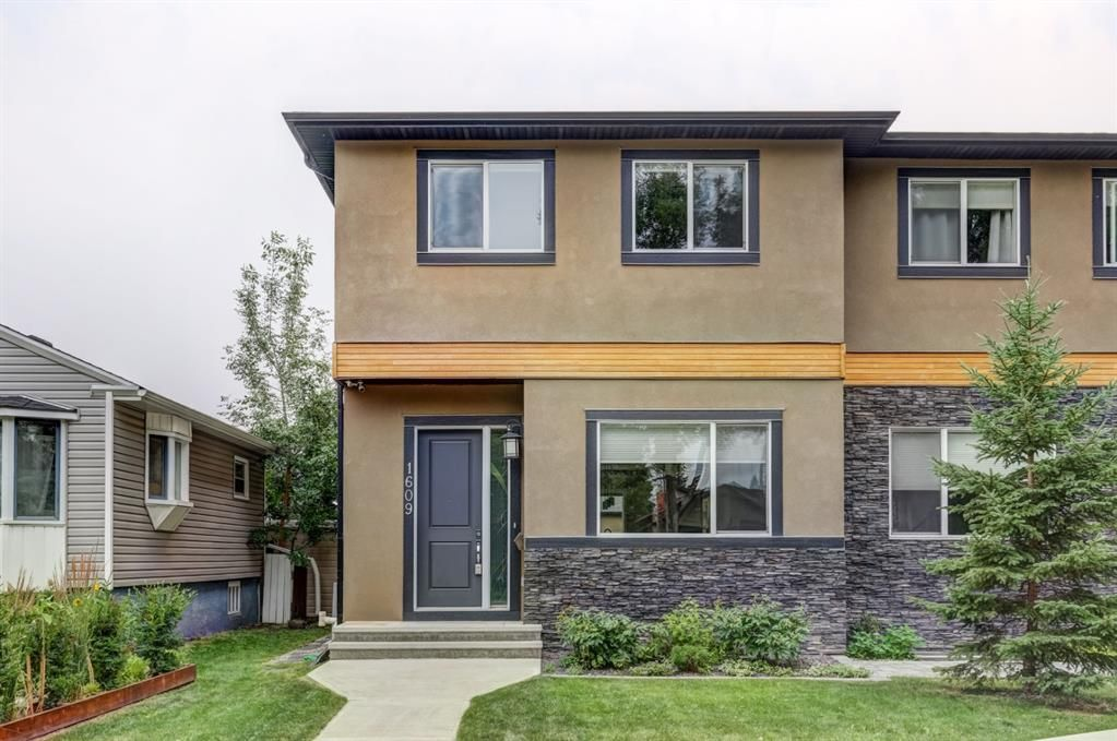 Main Photo: 1609 Broadview Road NW in Calgary: Hillhurst Semi Detached for sale : MLS®# A1136229