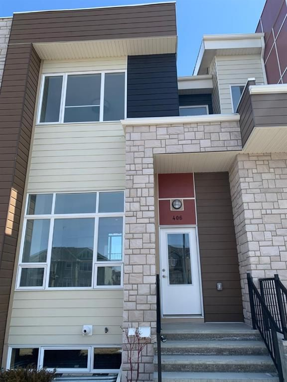 Main Photo: 406 1530 Bayside Avenue SW: Airdrie Row/Townhouse for sale : MLS®# A1124400
