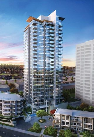 "Photo 1: 801 520 COMO LAKE Avenue in Coquitlam: Central Coquitlam Condo for sale in ""CROWN"" : MLS®# R2224862"
