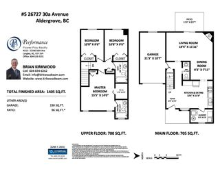 """Photo 2: 5 26727 30A Avenue in Langley: Aldergrove Langley Townhouse for sale in """"ASHLEY PARK"""" : MLS®# R2590805"""