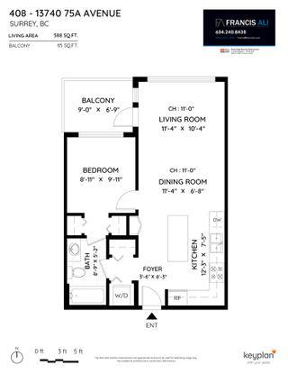 "Photo 16: 408 13740 75A Avenue in Surrey: East Newton Condo for sale in ""Mirra"" : MLS®# R2531809"